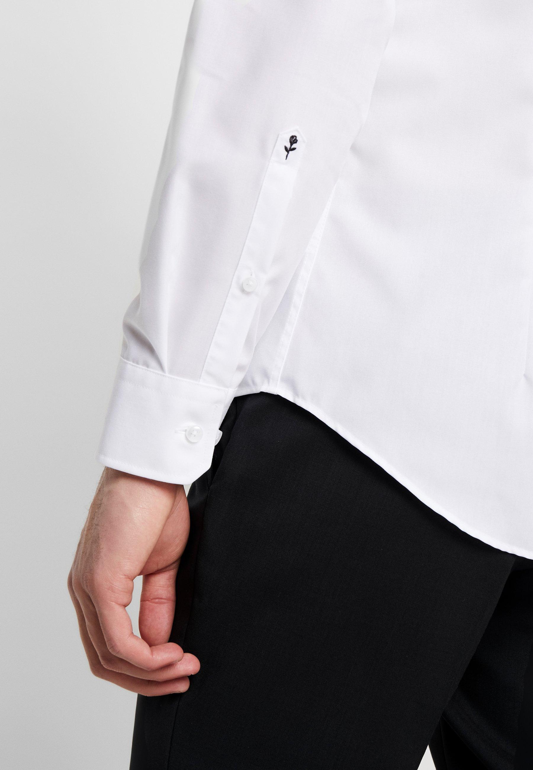 Seidensticker SLIM FIT SPREAD KENT PATCH - Chemise classique - white