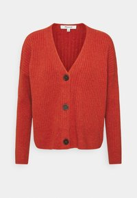 Madewell - SECRET SANTA V NECK CARDIGAN - Cardigan - heather brick - 0