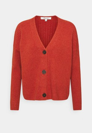SECRET SANTA V NECK CARDIGAN - Cardigan - heather brick