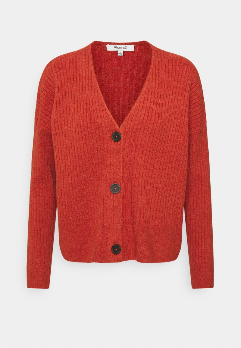Madewell - SECRET SANTA V NECK CARDIGAN - Cardigan - heather brick