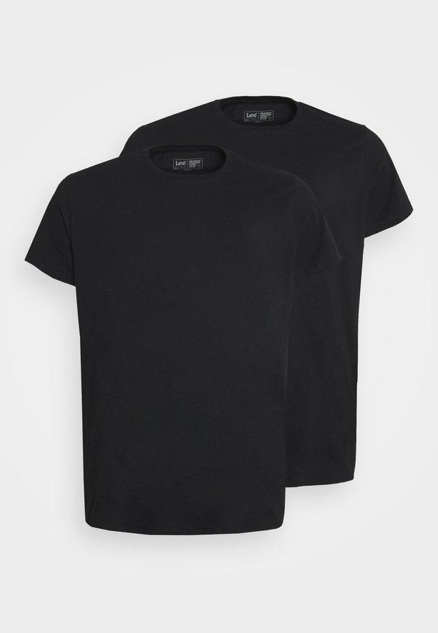 TWIN CREW 2 PACK - T-shirt basic - black