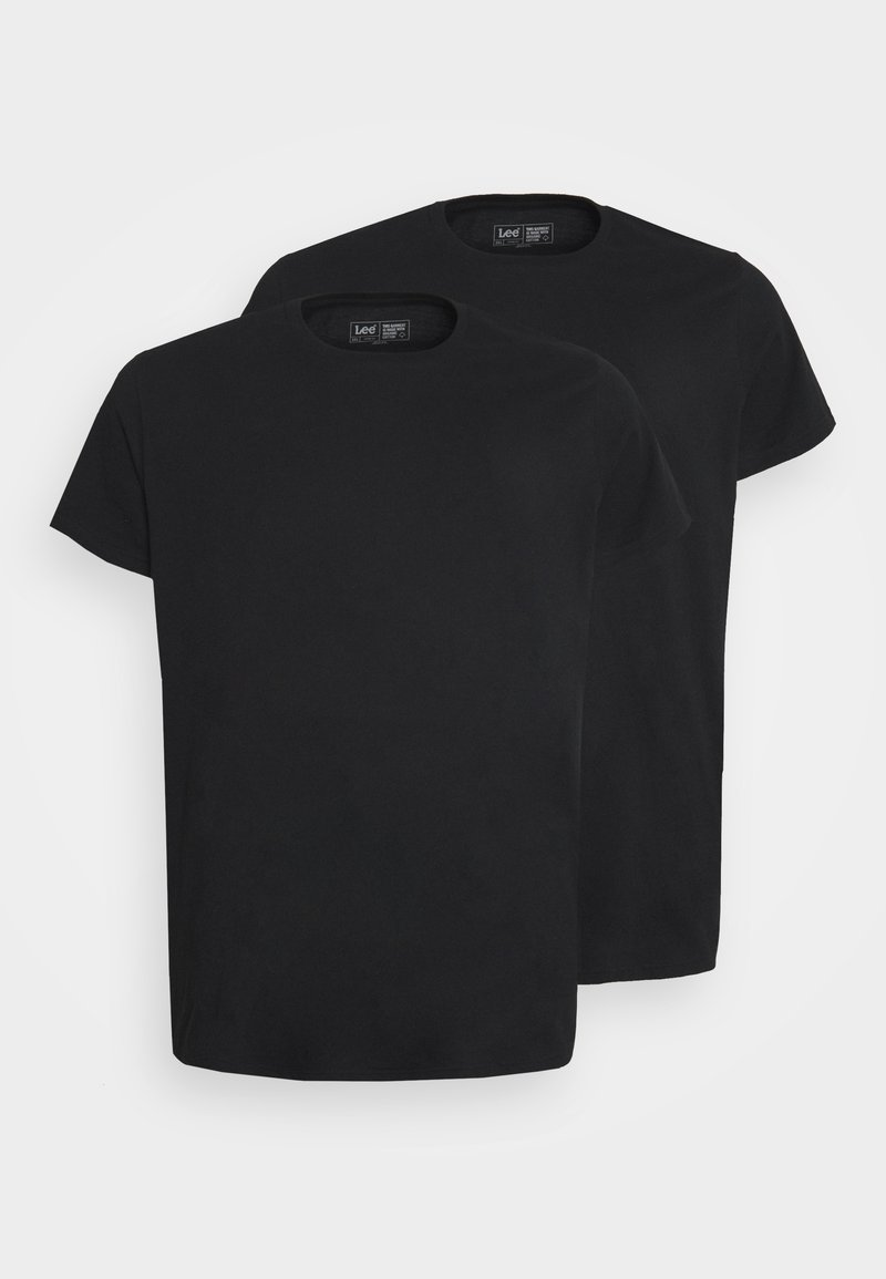 Lee - TWIN CREW 2 PACK - Basic T-shirt - black