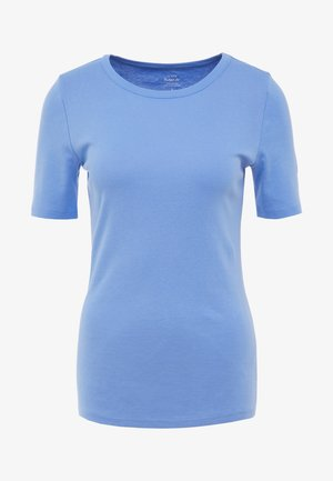 CREWNECK ELBOW SLEEVE - T-shirts basic - shale blu