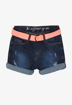 TEENAGER - Denim shorts - dark blue denim
