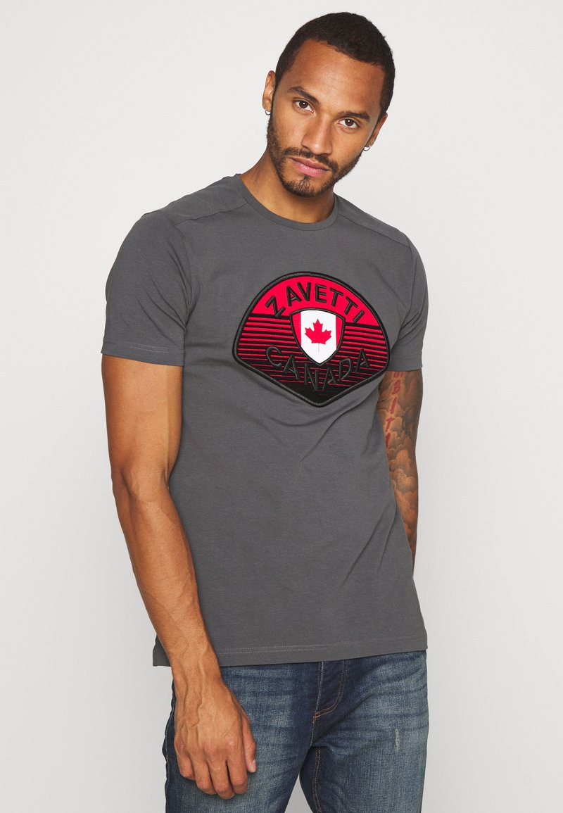 Alessandro Zavetti - CANADA BOTTICINI  - Print T-shirt - grey
