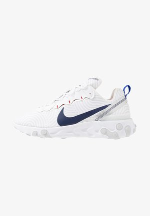 REACT 55 - Matalavartiset tennarit - white/midnight navy/blue/university red/pure platinum/metllic silver