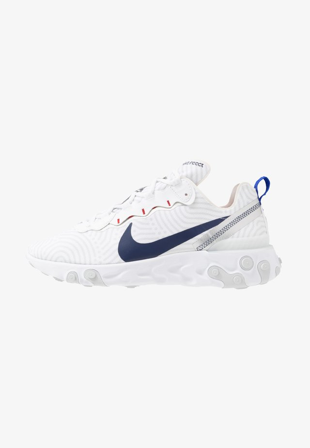 REACT 55 - Baskets basses - white/midnight navy/blue/university red/pure platinum/metllic silver