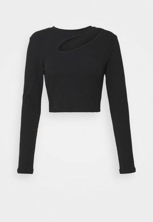 ONLNESSA LIFE CROPPED BOX - Long sleeved top - black