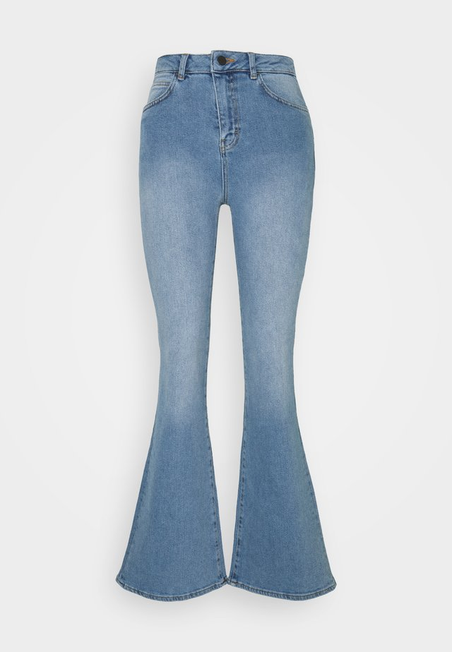 HIGH RISE - Flared Jeans - mid blue wash