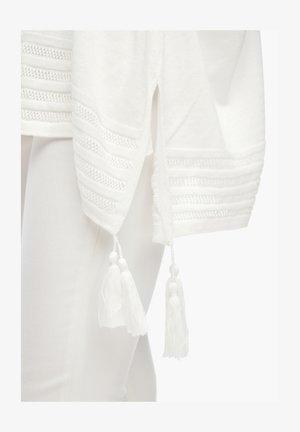 MIT QUASTEN - Jumper - white