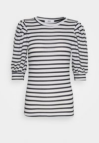 ONLY - ONLELCOS STRIPES - Print T-shirt - cloud dancer/navy - 0