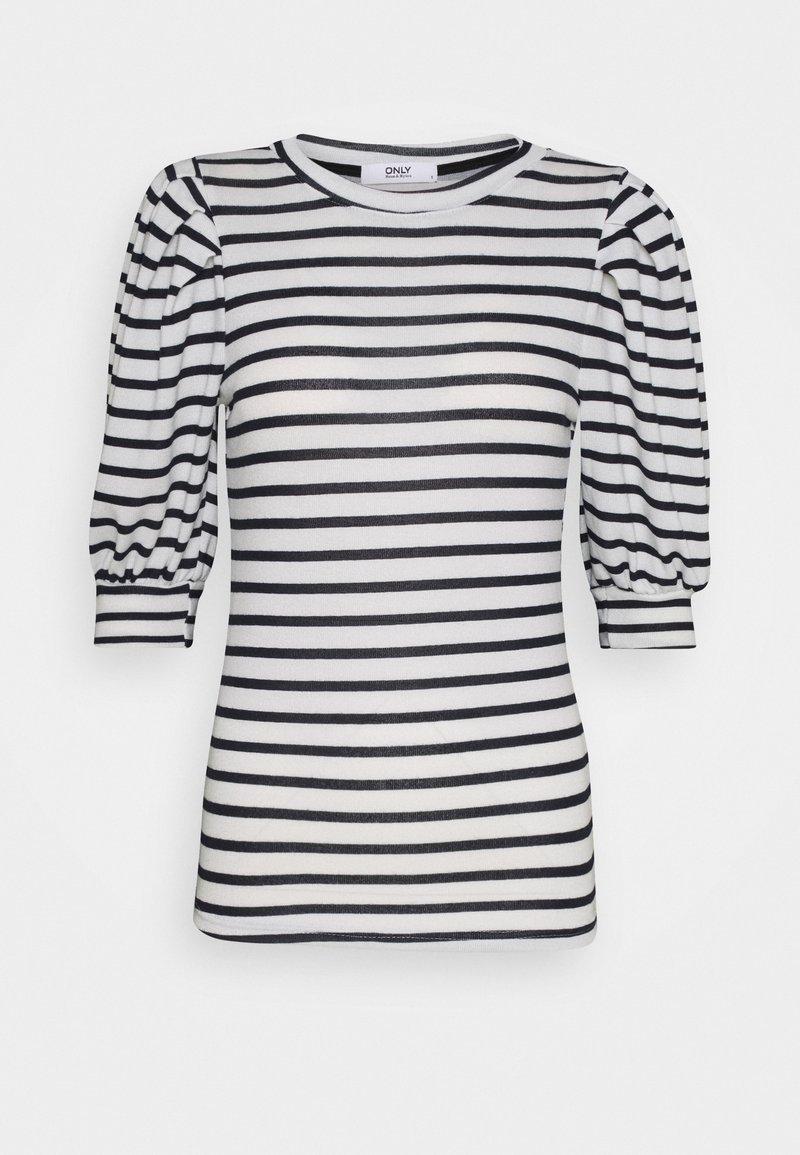 ONLY - ONLELCOS STRIPES - Print T-shirt - cloud dancer/navy