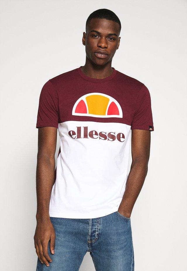 ARBATAX - Camiseta estampada - burgundy