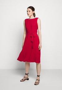 Lauren Ralph Lauren - MID WEIGHT DRESS  COMBO - Day dress - berry sorbet - 0