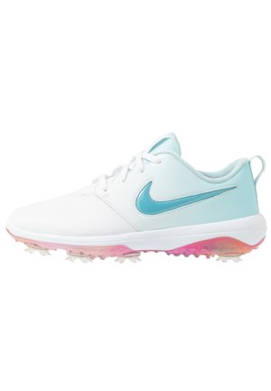 NIKE ROSHE WITH SWAROVSKI® CRYSTALS DAMEN-GOLFSCHUH - Obuwie do golfa - white/topaz mist/blue gaze