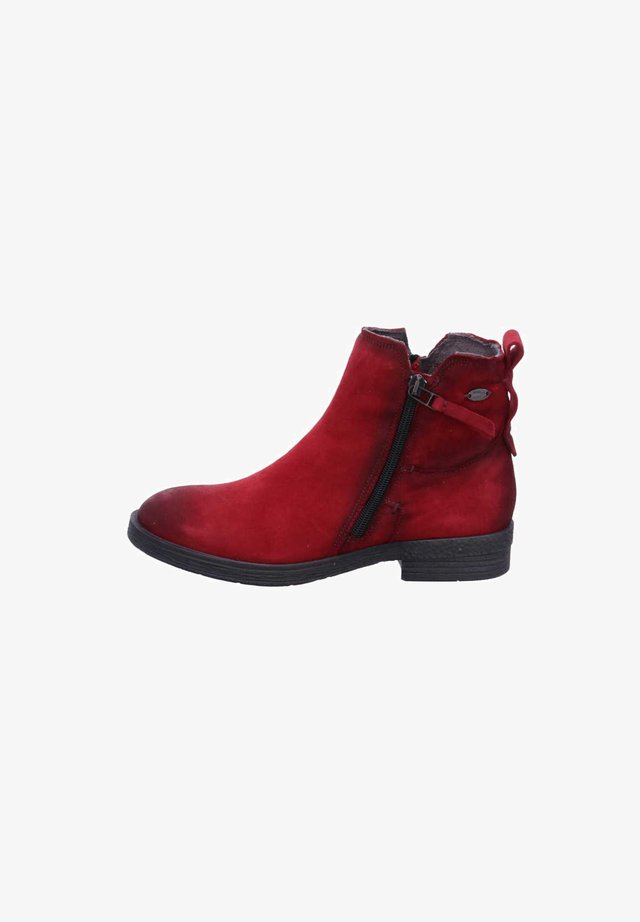 Ankle boots - dkred