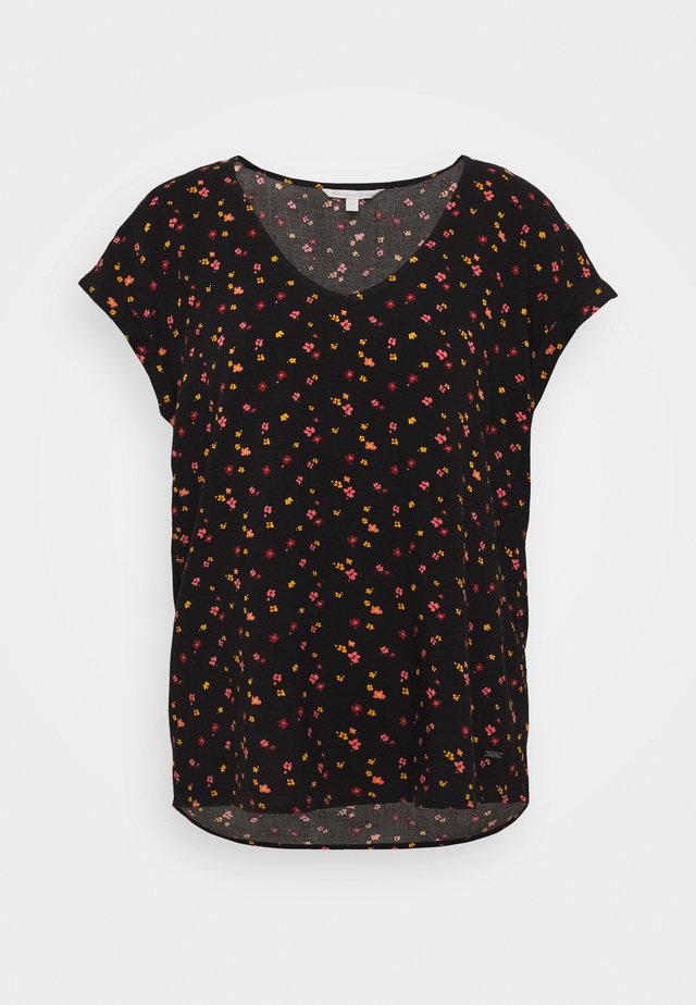 PRINTED SPORTY BLOUSE - Blusa - black/red