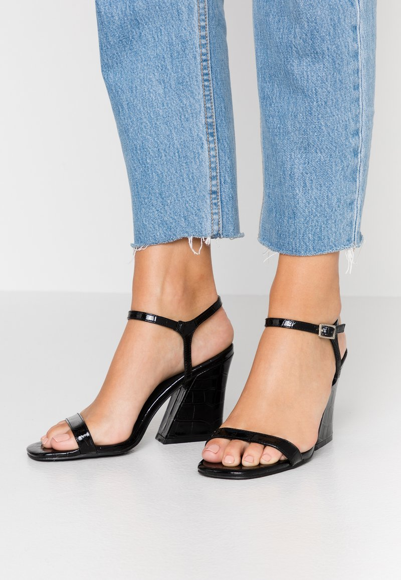 Public Desire - BONUS - High heeled sandals - black