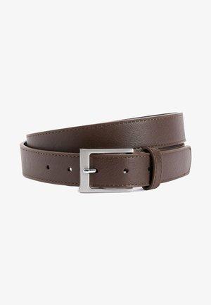 BLACK STITCHED EDGE BELT - Belt - mottled brown