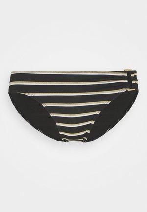 RING FRONT HIPSTER - Bikini bottoms - black