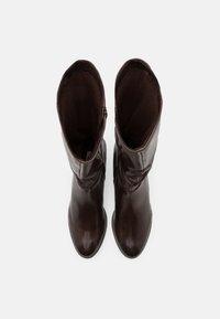 Steven New York - SOLANGE - Vysoká obuv - dark brown - 5