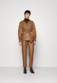 Samsøe Samsøe - VESTINE JACKET  - Faux leather jacket - camel - 1