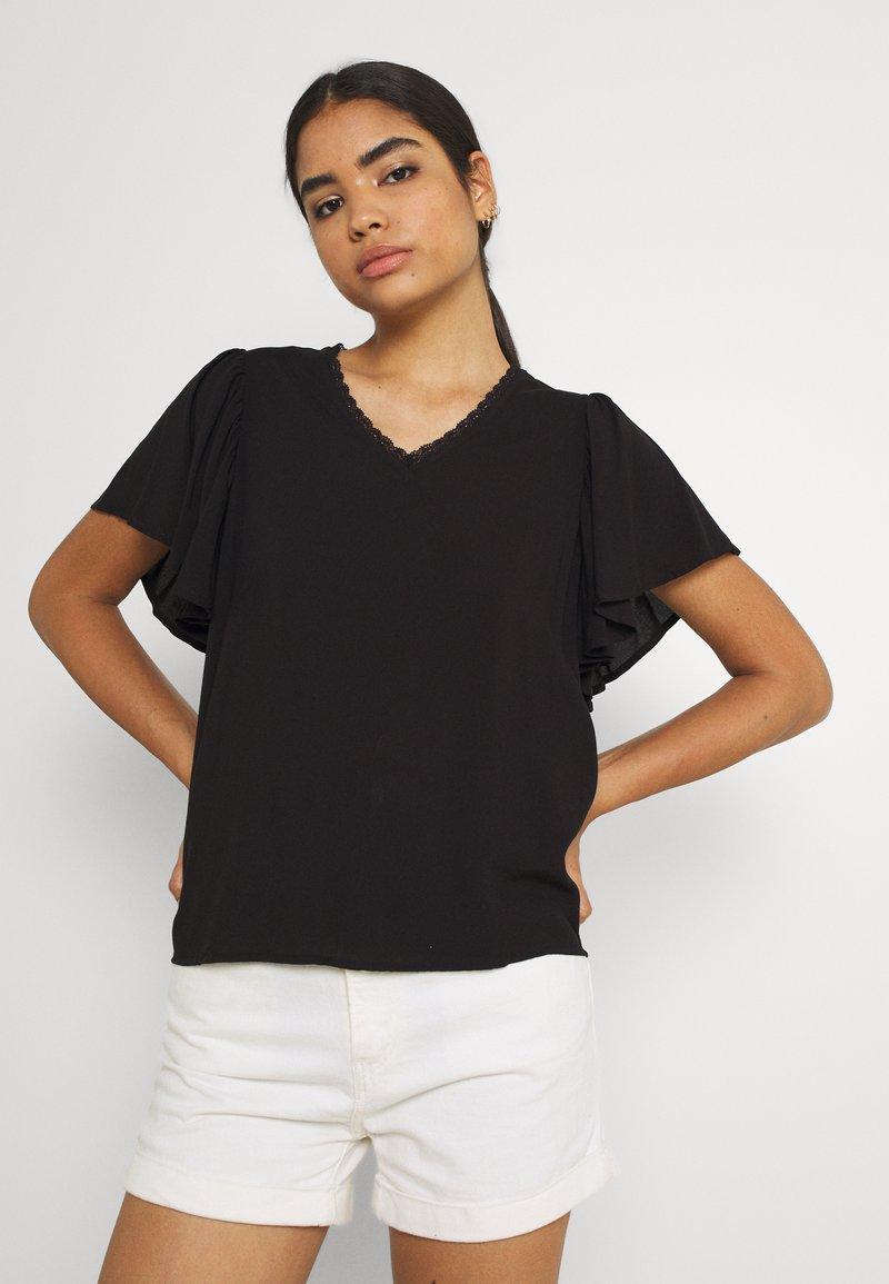 Vero Moda - VMNADS TRAPEZ SLEEVE - Print T-shirt - black