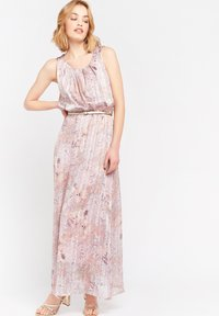 LolaLiza - WITH FLOWERS AND BELT - Maxi dress - nude - 1