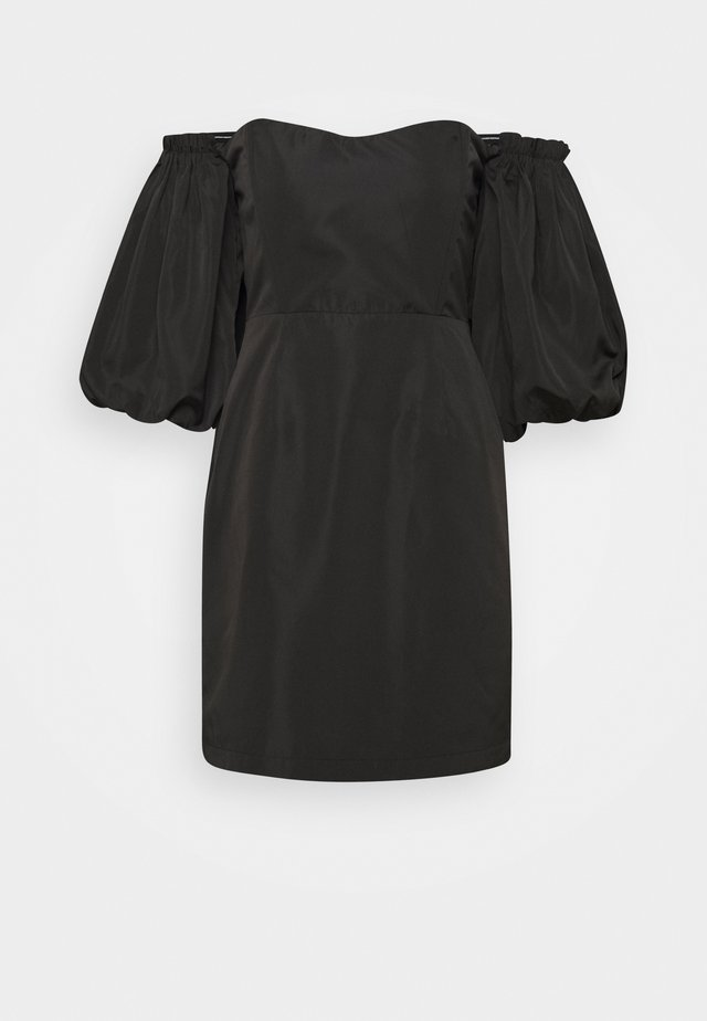 Day dress - black solid