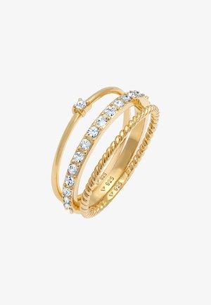 3ER SET - Ring - gold