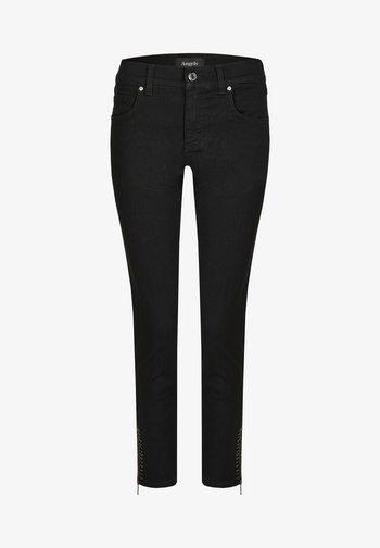 ANKLE ZIP SHINE' MIT MODISCHEN DETAILS - Jeans Skinny Fit - schwarz
