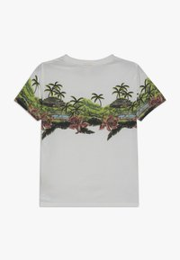 Scotch & Soda - SHORT SLEEVE TEE WITH TROPICAL - Triko s potiskem - off white - 1