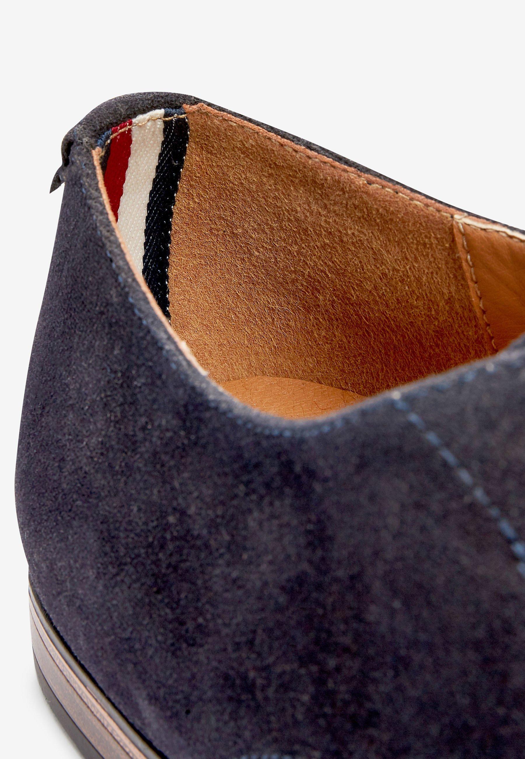 Next NAVY MICROSUEDE DERBY SHOES - Eleganta snörskor - blue/blå - Herrskor Ppwec