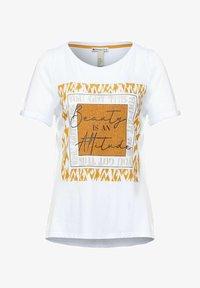 Street One - MIT PARTPRINT - Print T-shirt - weiß - 3