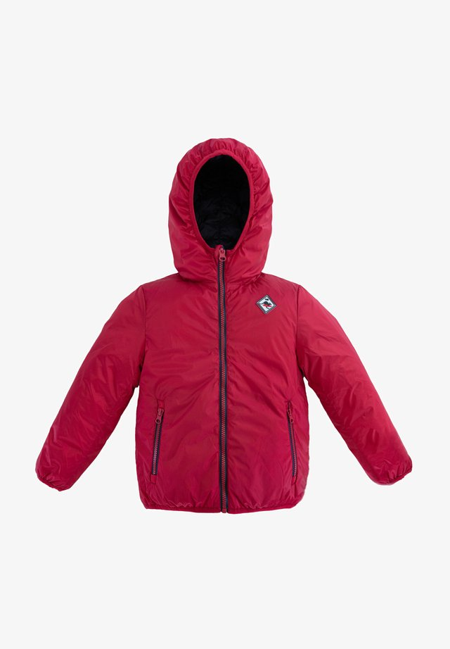 REVERSIBLE HOODED - Winterjas - red