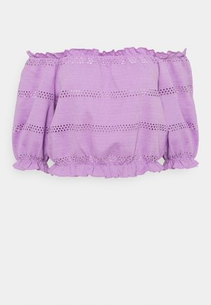 PCTAYLEE CROPPED - T-shirt con stampa - sheer lilac