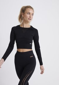 Superdry - LONG SLEEVE - Long sleeved top - black - 0