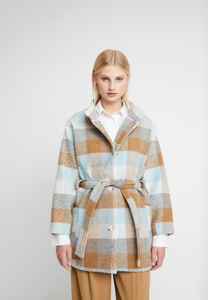 ANAYA COAT - Classic coat - iced blue/brown
