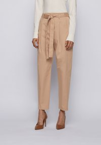 BOSS - TERMINE - Trousers - beige - 0