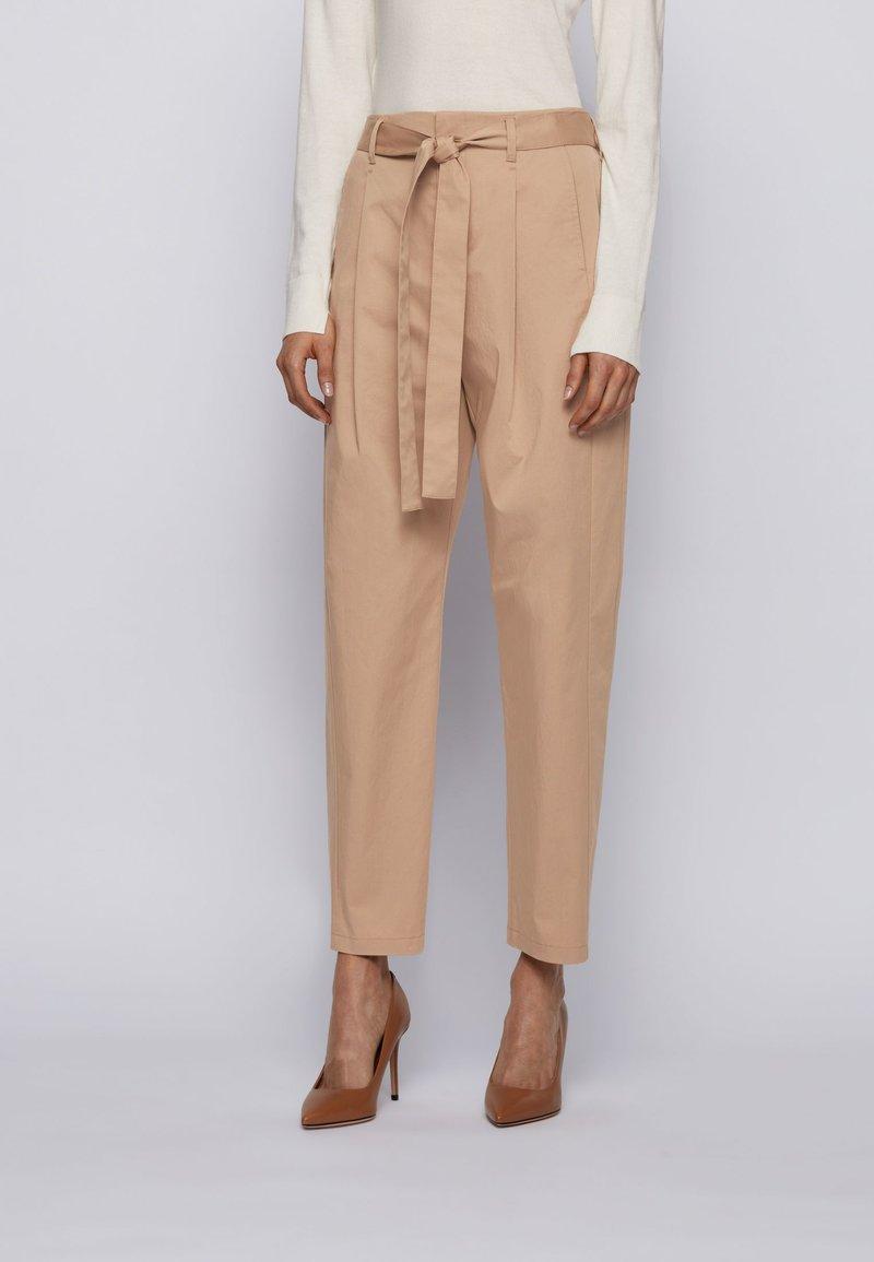 BOSS - TERMINE - Trousers - beige