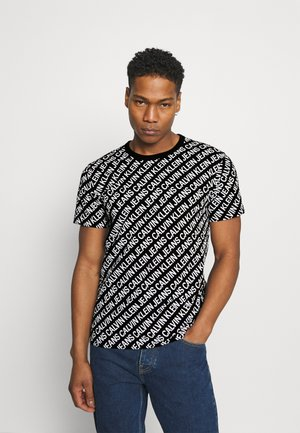 DIAGONAL TEE - Print T-shirt - black