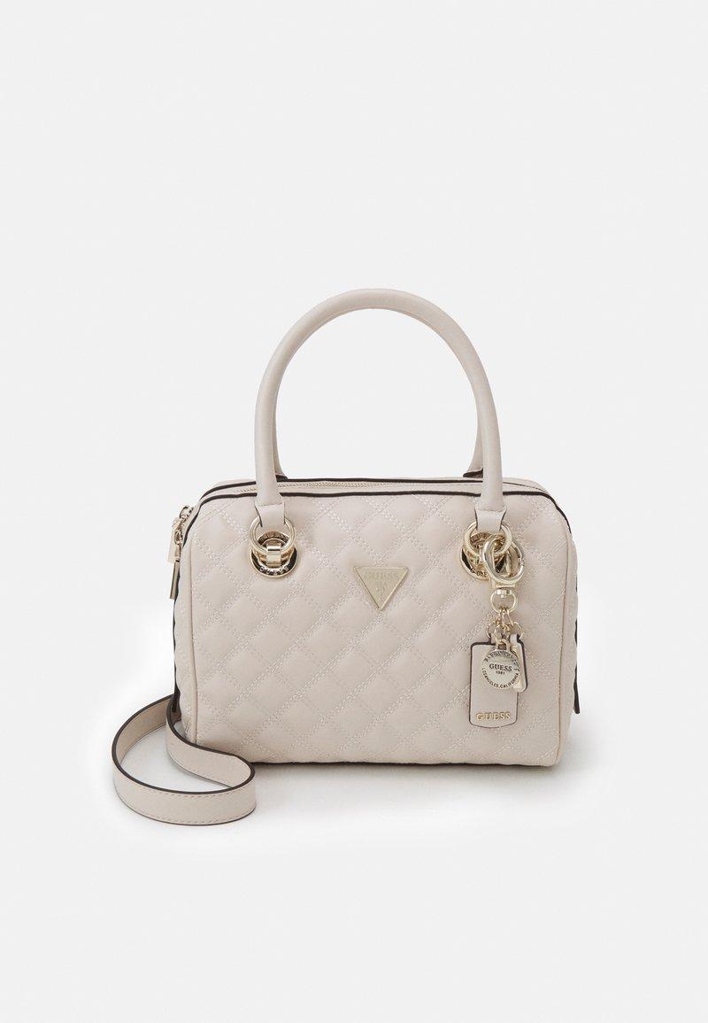 Guess - CESSILY BOX SATCHEL - Handbag - stone