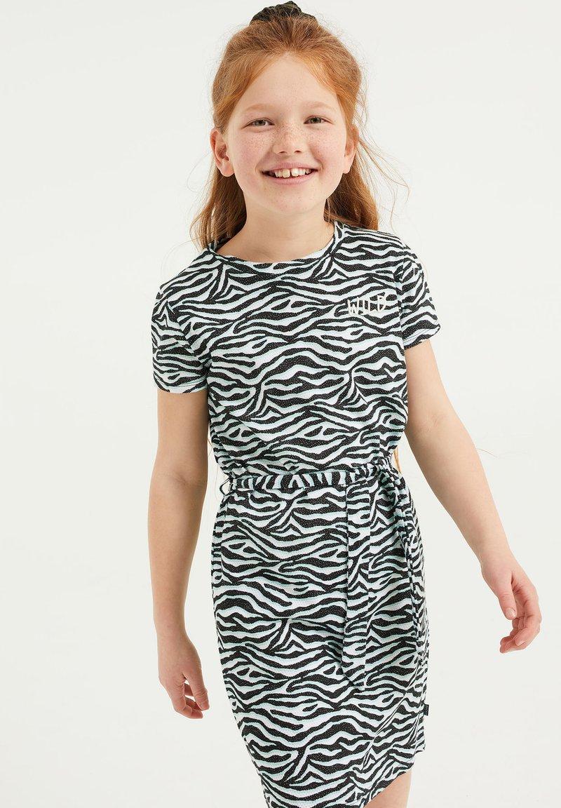 WE Fashion - MET DESSIN EN STRUCTUUR - Jersey dress - multi-coloured