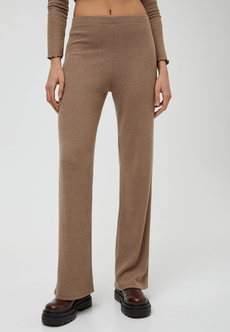 PULL&BEAR - Trousers - mottled beige