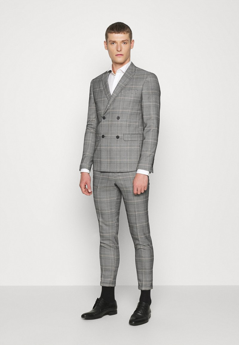Lindbergh - DOUBLE BREASTED CHECK SUIT - Suit - brown