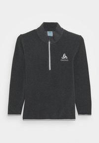 ODLO - MIDLAYER 1/2 ZIP ROY KIDS STRIPE UNISEX - Fleece jumper - shale grey/black - 0