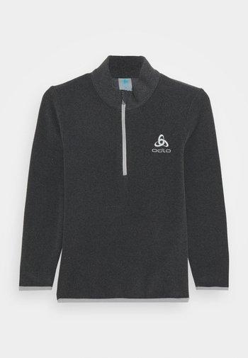 MIDLAYER 1/2 ZIP ROY KIDS STRIPE UNISEX - Fleece trui - shale grey/black