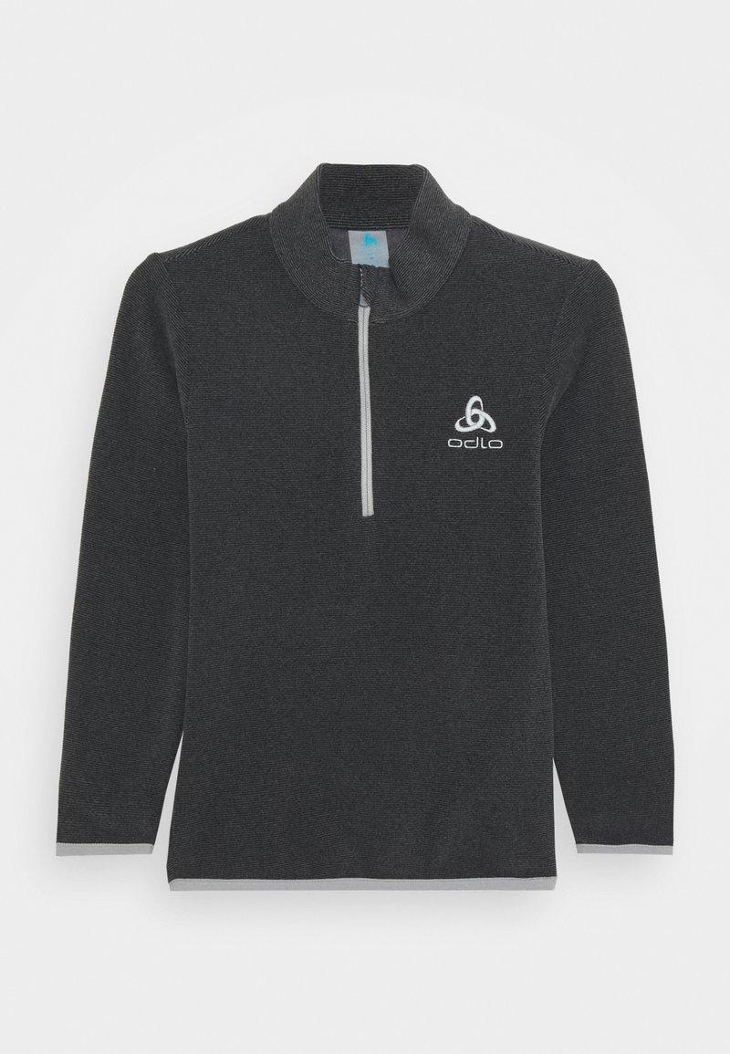 ODLO - MIDLAYER 1/2 ZIP ROY KIDS STRIPE UNISEX - Fleece jumper - shale grey/black
