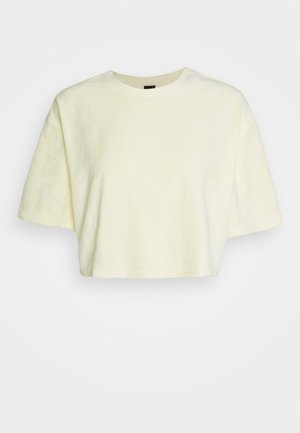 AVA TOWELLING TEE - Basic T-shirt - yellow