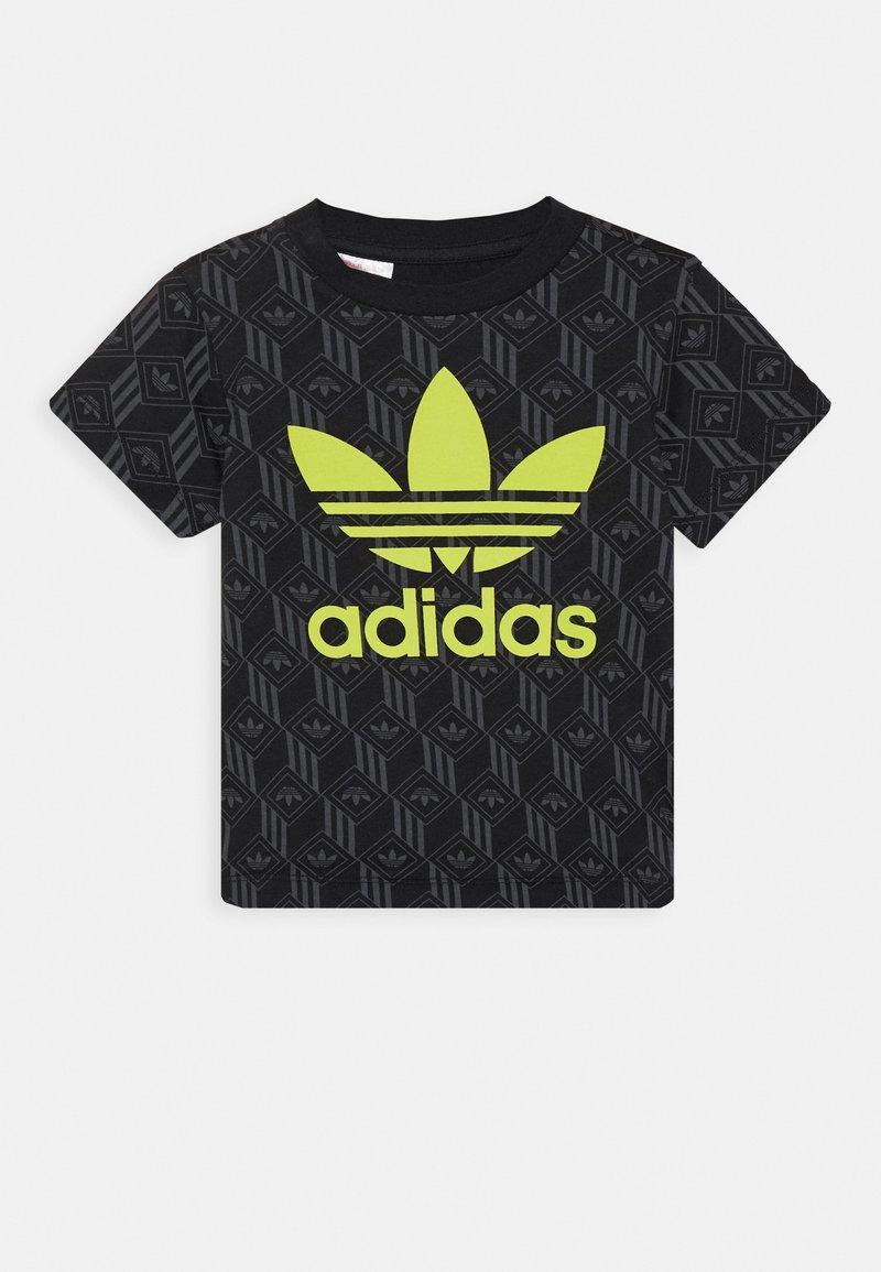 adidas Originals - TREF TEE - Print T-shirt - black